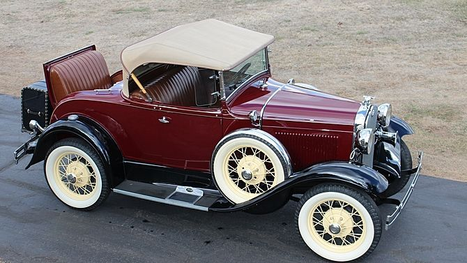 1931 Ford Model A Roadster Steel Body, Rumble Seat presented as lot F180.1 at Ka…