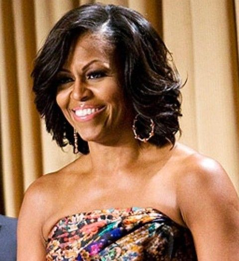 Top 15 Michelle Obama Hairstyles Pretty Designs Michelle Obama Hairstyles Long Hair Care Hair Styles
