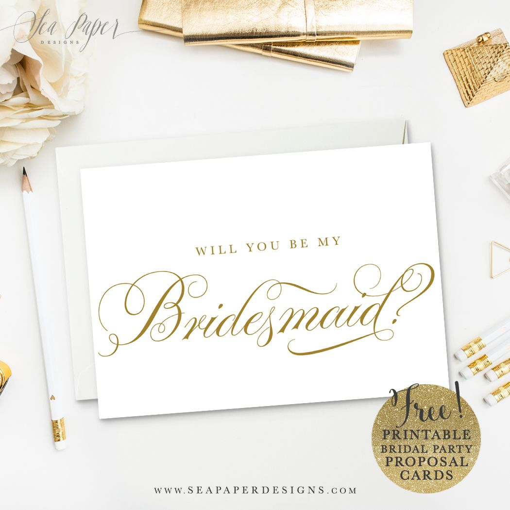 Freebie Printable Diy Will You Be My Bridesmaid Card Set Bridesmaid Proposal Diy Bridesmaid Cards Be My Bridesmaid Cards