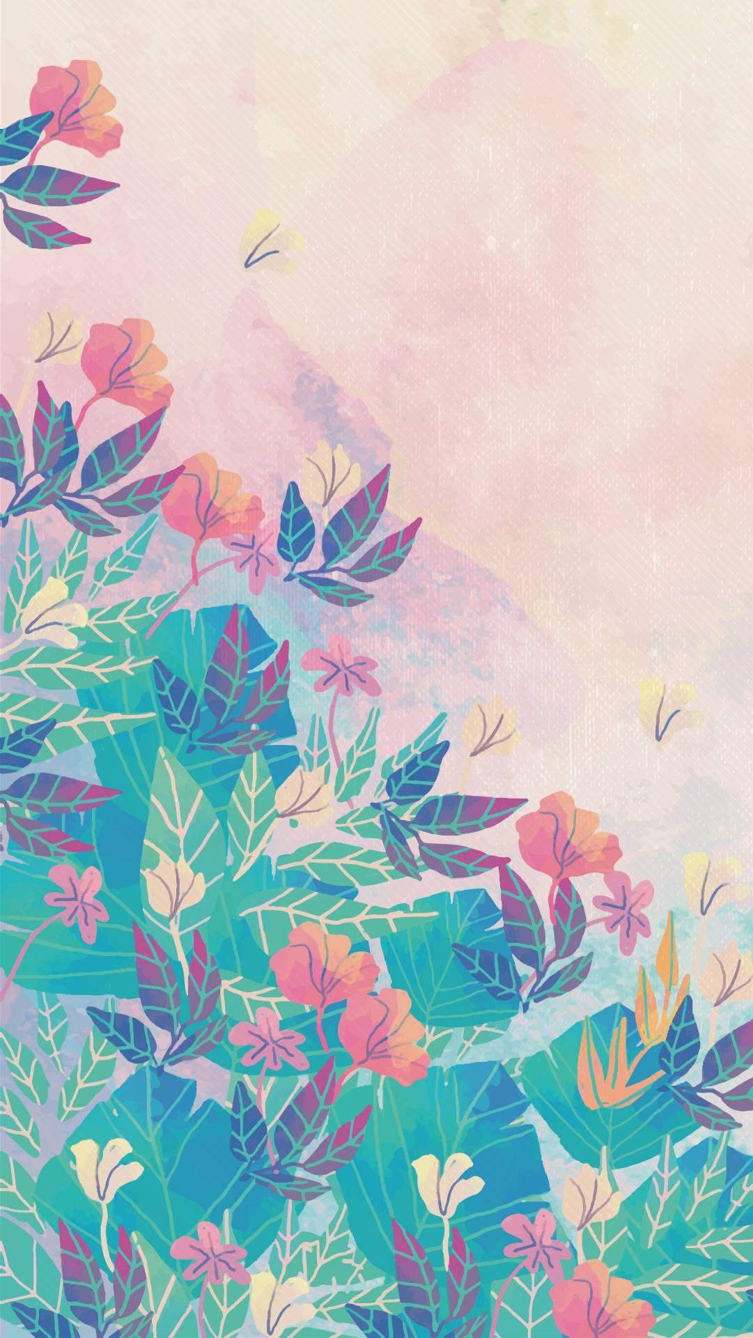 Papeis De Parede Fofos Para Celular Da Primavera Watercolor