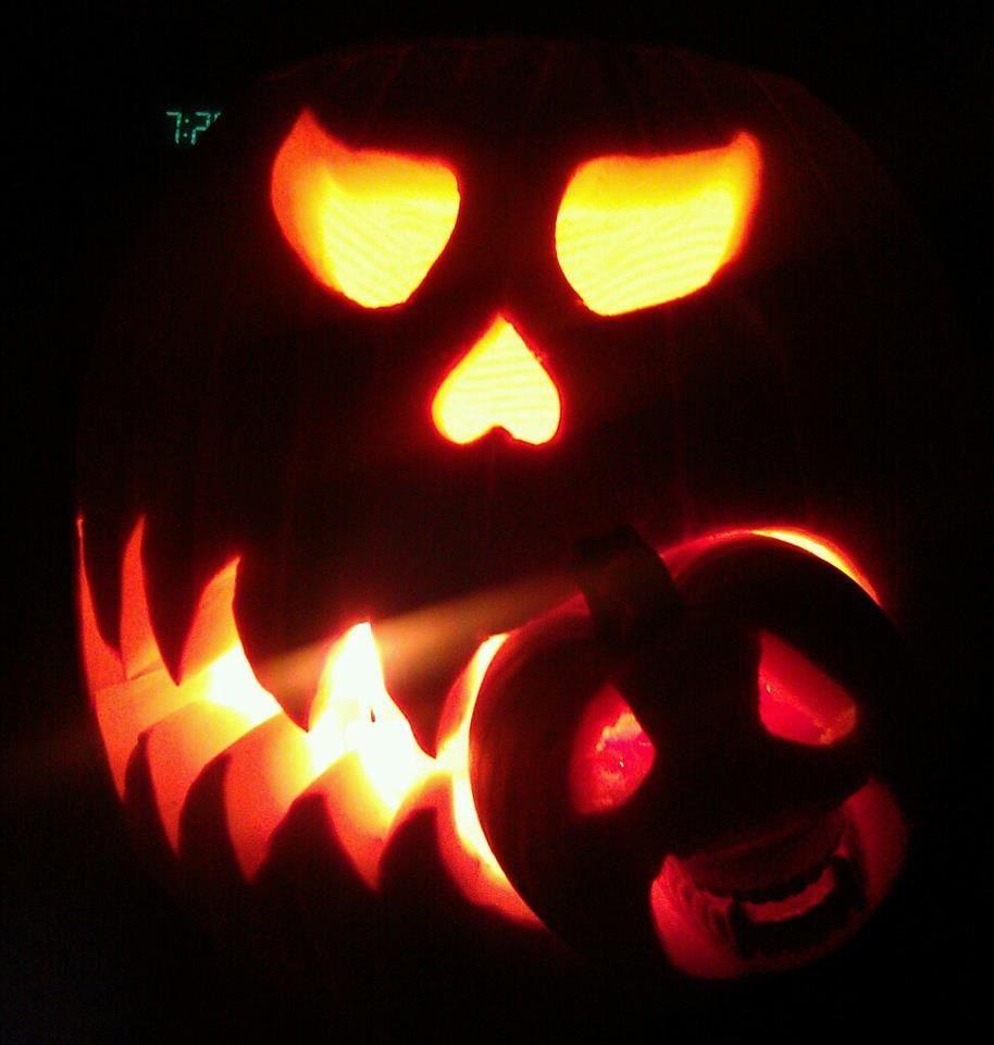 Annual pumpkin carving 2012