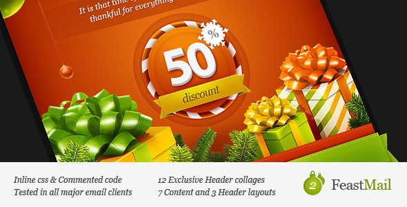 FeastMail 2 - Christmas Email Template Template Email templates
