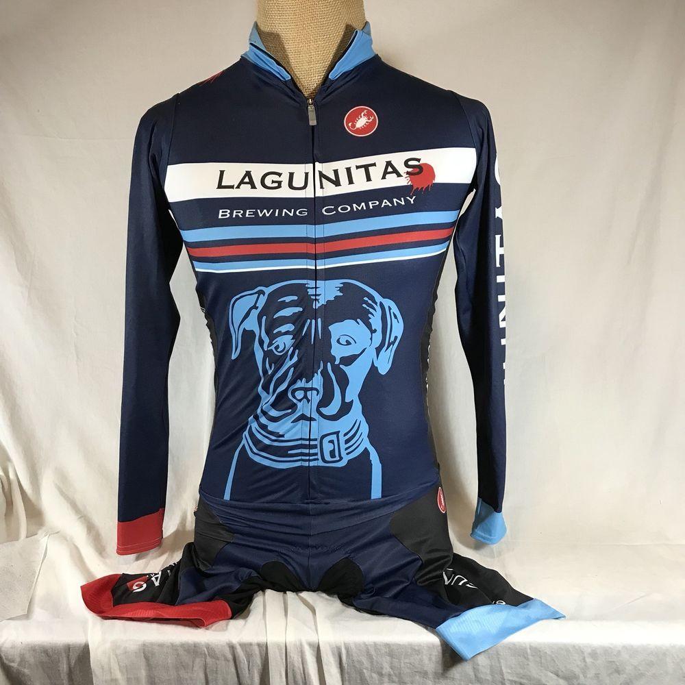 45adde745 Castelli Cycling Suit Lagunitas Brewing Padded Seat XL Biking Jersey  Speedsuit  Castelli