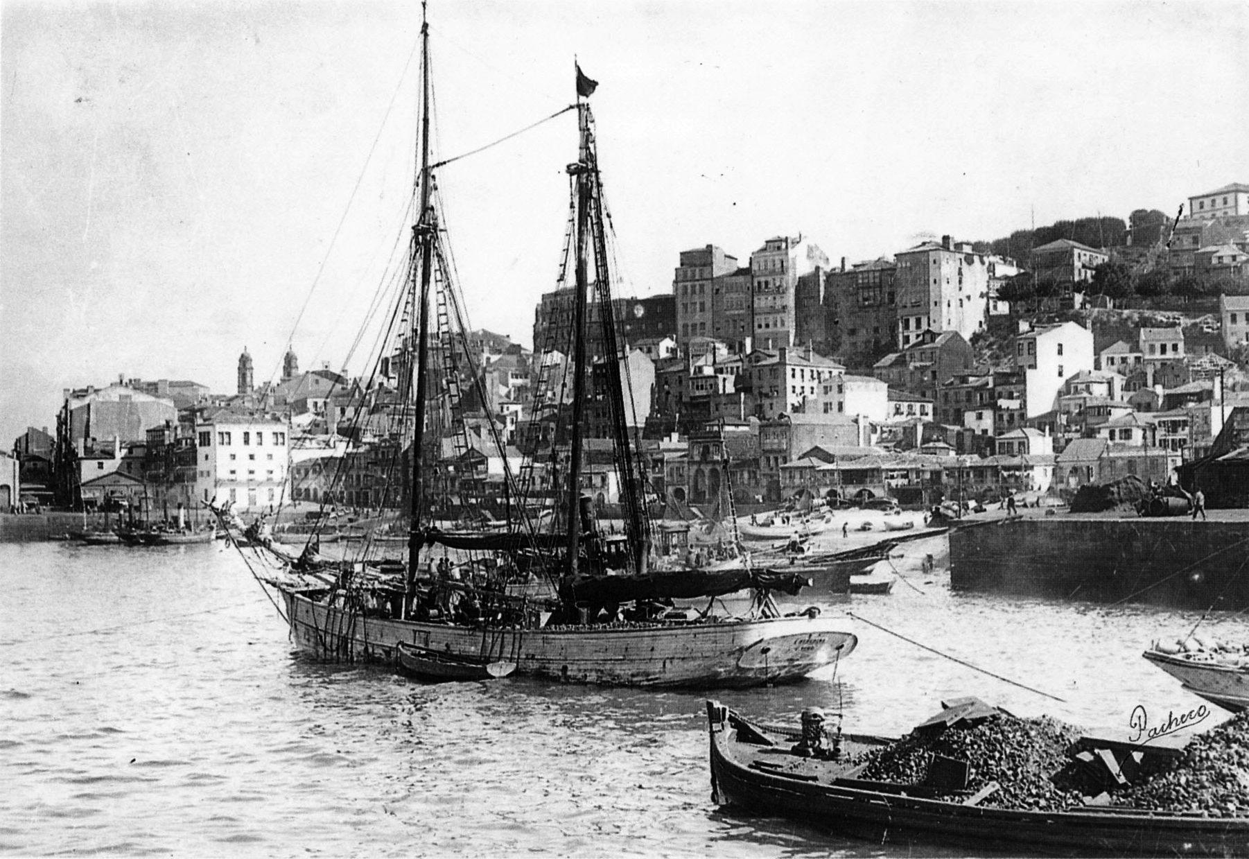 Coasting Schooner,  Vigo, ca. 1920