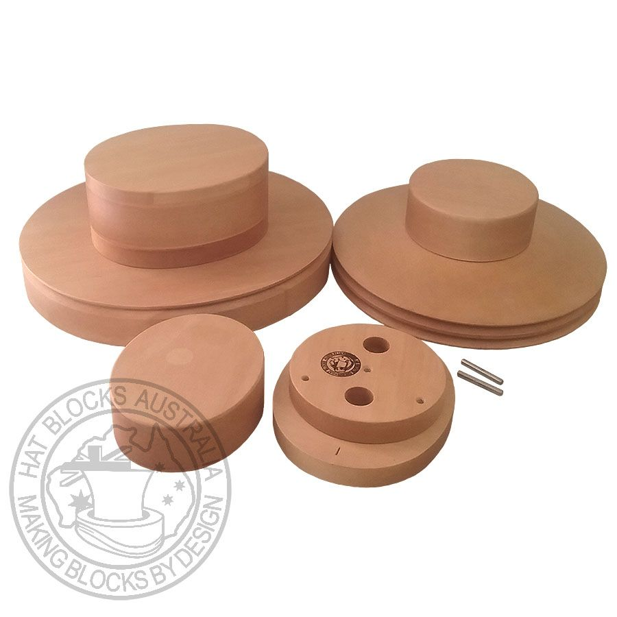 Complete Boater Set By Hat Blocks Australia This Set Of 6 Pieces Will Make Both A Full Size Regular Boater Hat And A Sma Hat Blocks Boater Hat Hat Making