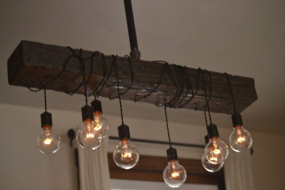 Description Combining Both Wood And Steel There Is No Place That This Light Cant Be Use The Distressed Beam You See In Picture Has