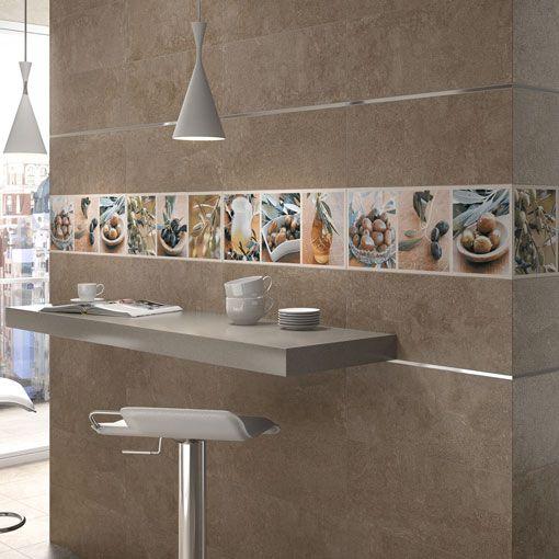 Azulejos con fotograf as como alternativa a las Cenefas para cocina