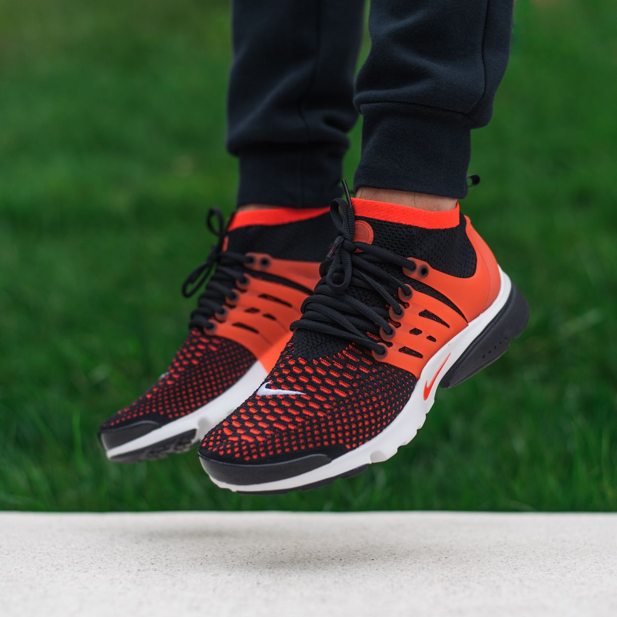 5e50d5666812 Here s How The Nike Air Presto Ultra Flyknit In Black Bright Crimson Looks  Like On-Feet