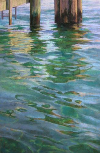 Water Reflections Pastel Painting Water Art Water Painting