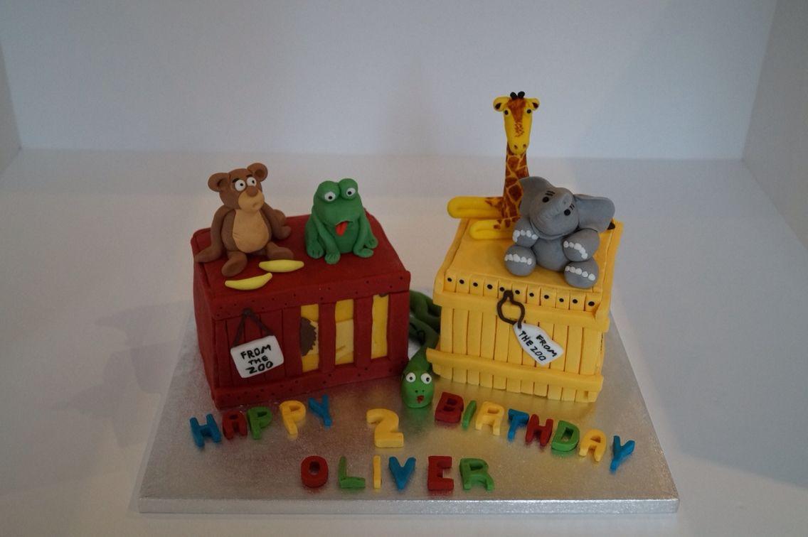 Dear zoo animal cake 2nd birthday cake Cakes Pinterest Zoo