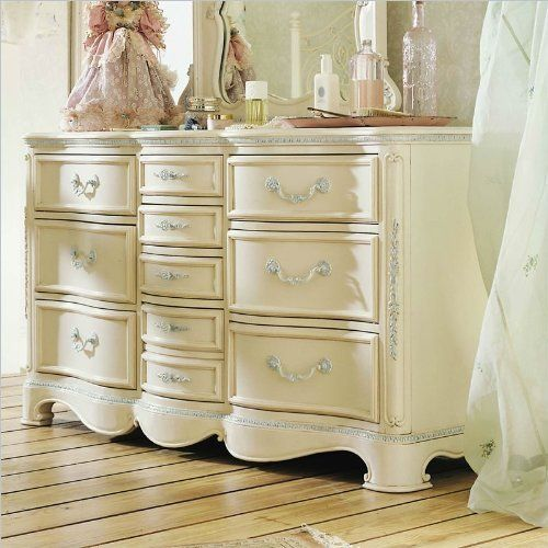 Beau Jessica McClintock Romance Ten Drawer Bedroom Storage Dresser By Lea  Industries