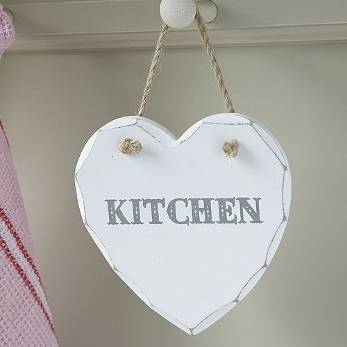 Chunky hanging Heart Plaque-Kitchen