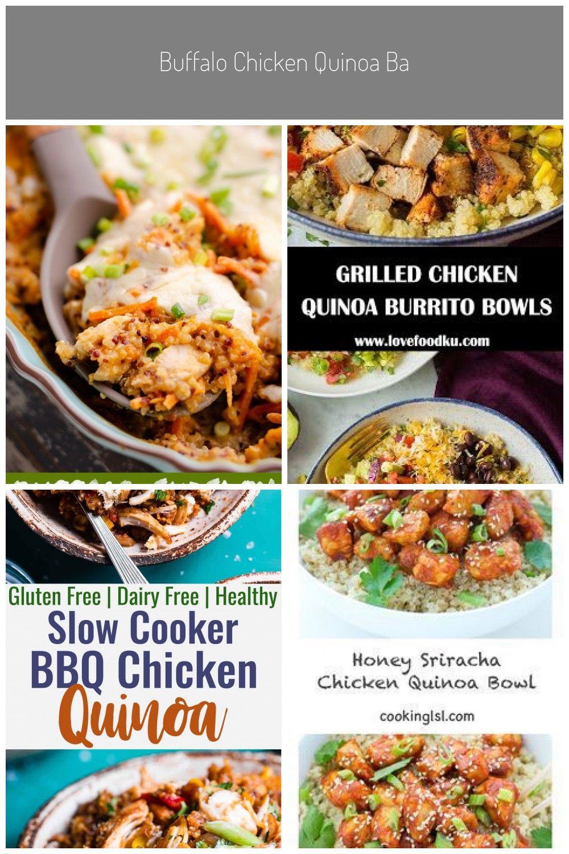 Buffalo Chicken Quinoa Bake is a healthy and easy weeknight casserole recipe full of fresh vegetabl