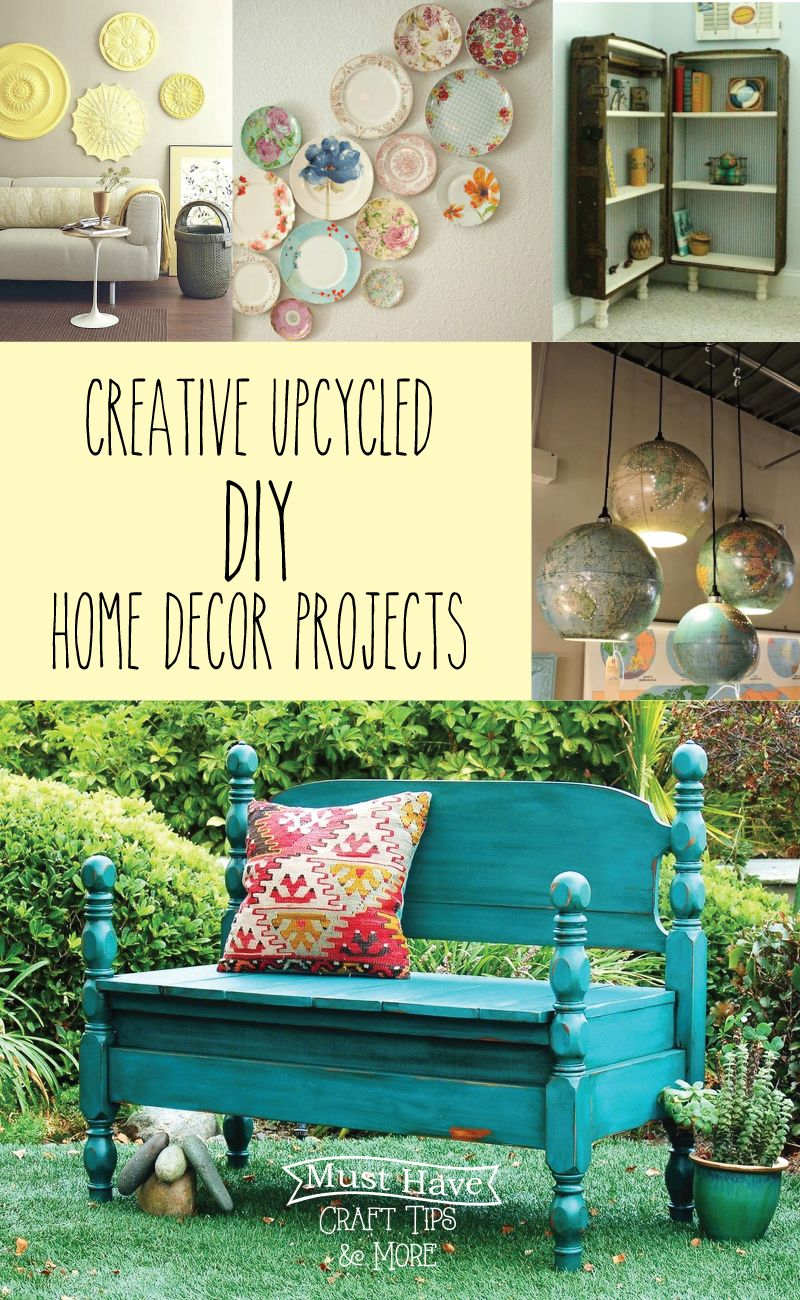 Must Have Craft Tips - Upcycled Home Decor Ideas - | Upcycling ...