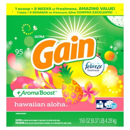 Gain Powder Laundry Detergent For Regular And He Washers Hawaiian