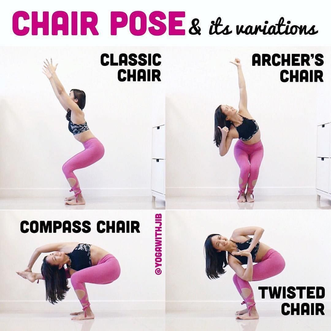Yogawithjib On Chair Pose Howtoyogawithjib I Am Jumping On The Band Wagon Of Yogaelementschallenge I A Chair Pose Yoga Yoga Tutorial Chair Pose