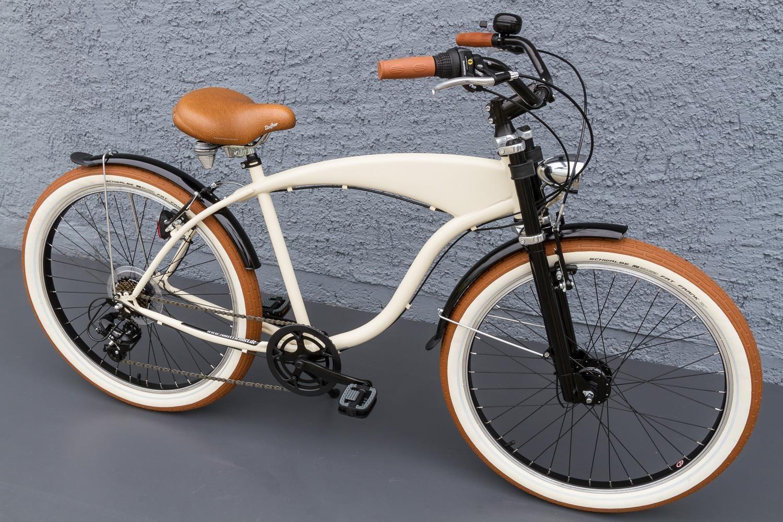 Beachcruiser Cruiser Fahrrad Shimano 7 Gang Nabendynamo Schwalbe