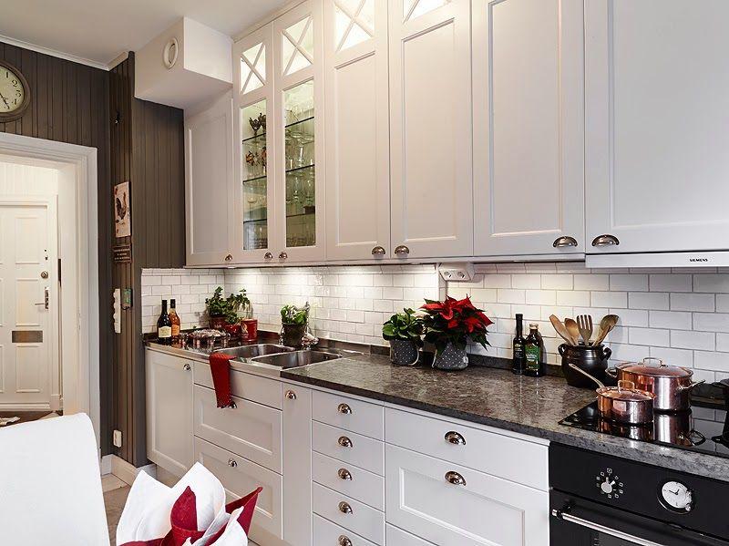 cocina-blanca-tradicional-estilo-nordico2 Cocina Pinterest