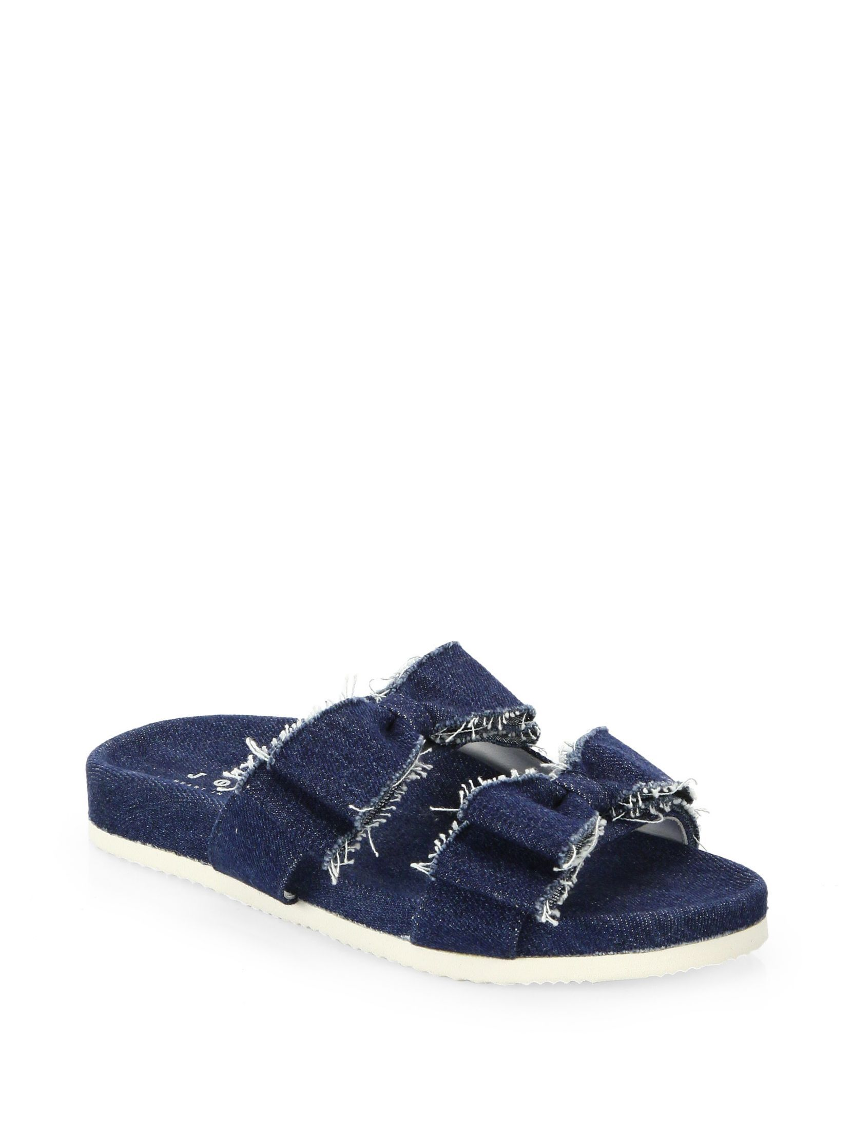 JOSHUA SANDERS Joshua Light Denim Bow Slides