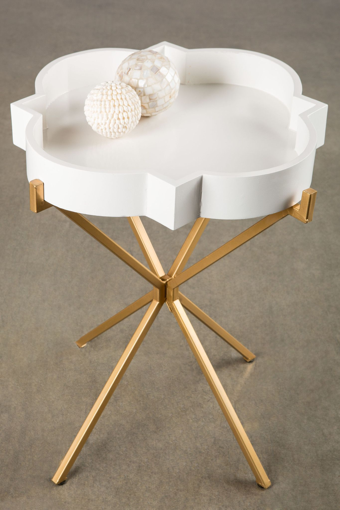 Statements By J Josylyn Side Table Materials Wood And Metal Removable Tray