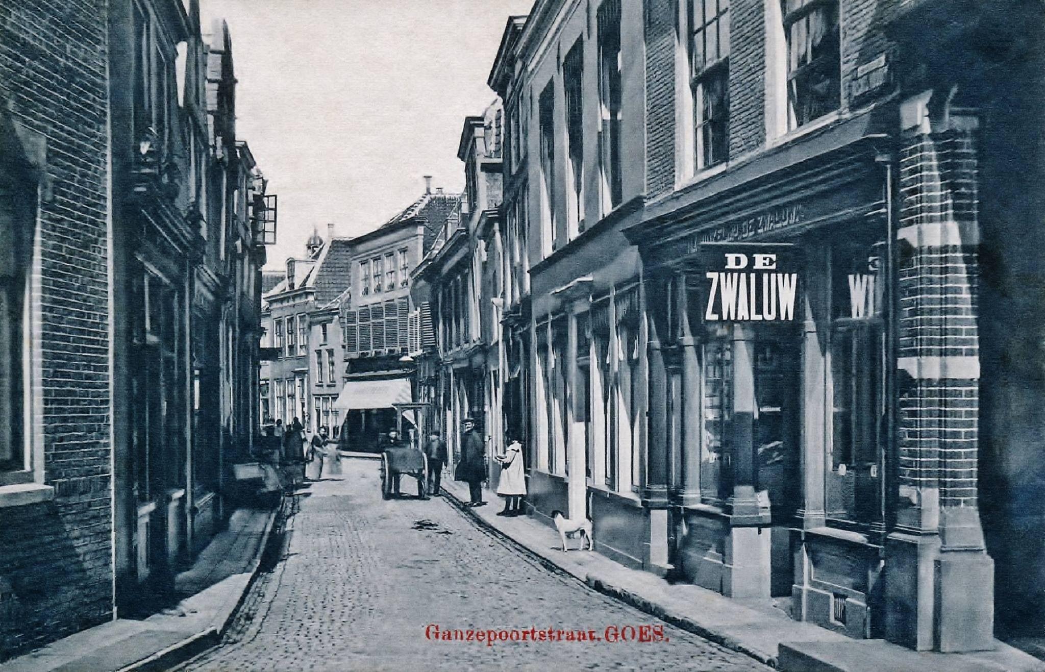 Ganzepoottstraat rond 1900