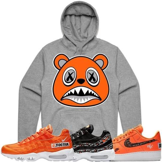 Baws Hoodie ORANGE BAWS Grey Sneaker Hoodie - Nike Air Just Do It ... b3df6bdbb
