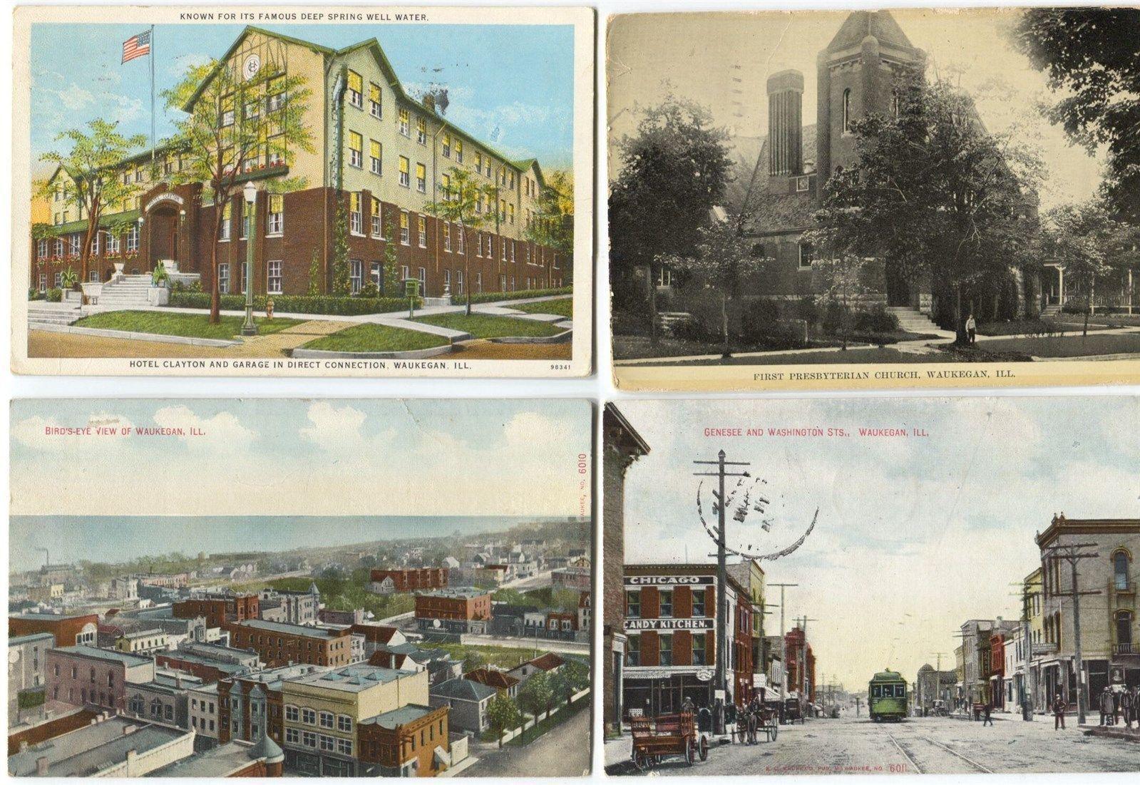 8 1910 20 Era Waukegan Illinois Postcards | eBay