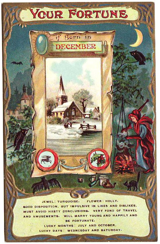 Rare Original 1910 Fortune Postcard Witch Magic