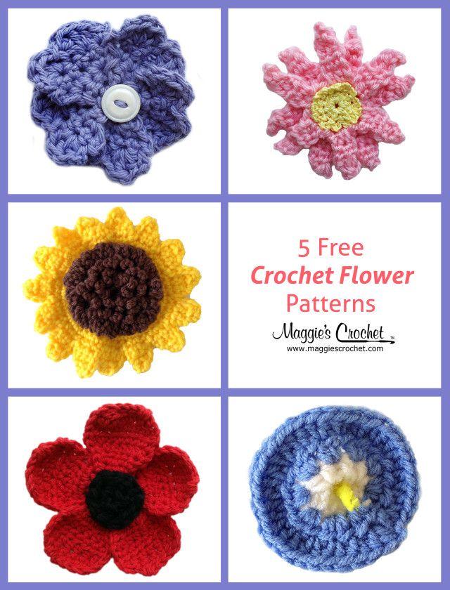 Pinterest Crochet Flowers Free Patterns Blue Flowers 2018 Blue