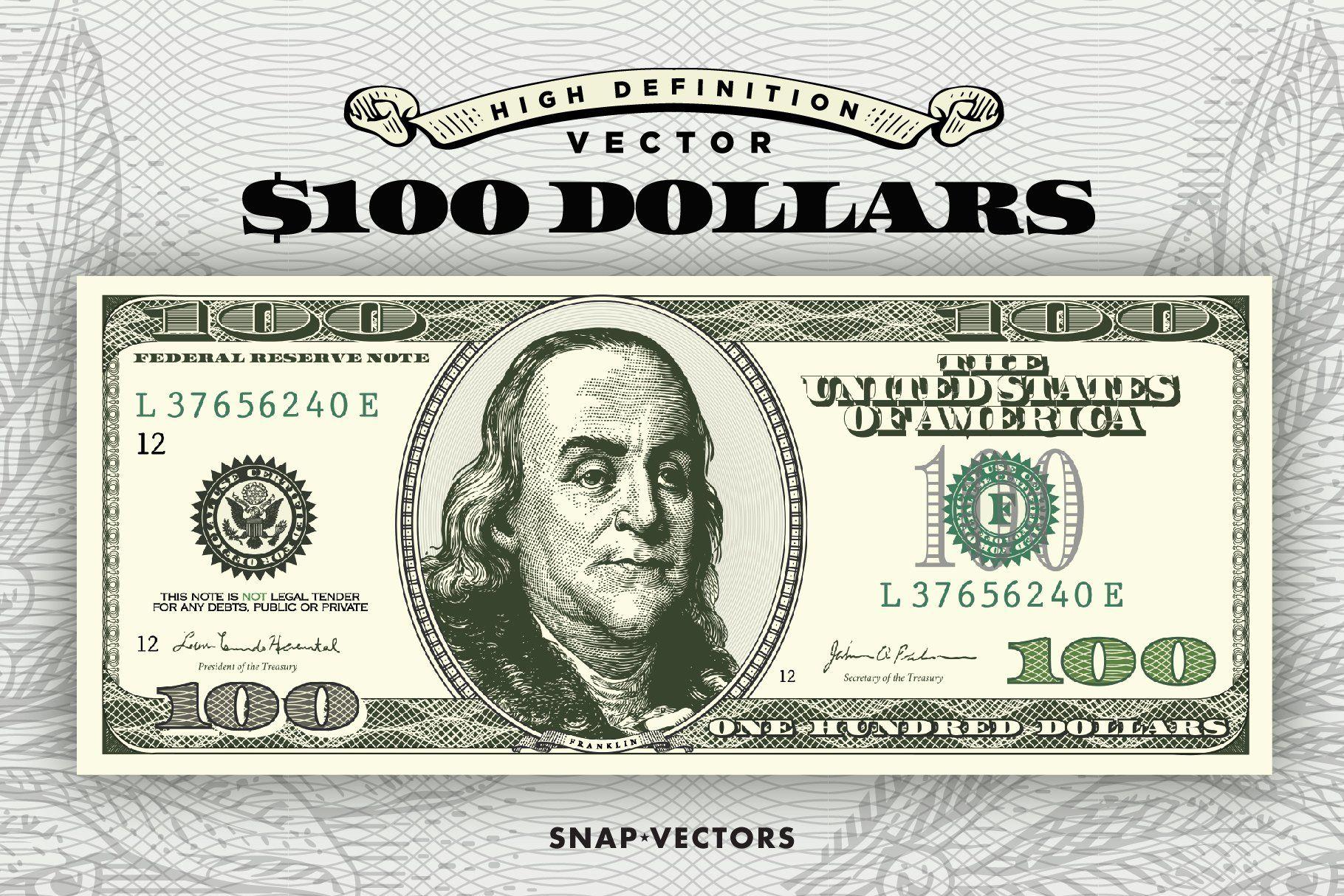 Vector 100 Dollars In 2020 Money Logo Dollar 100 Dollar