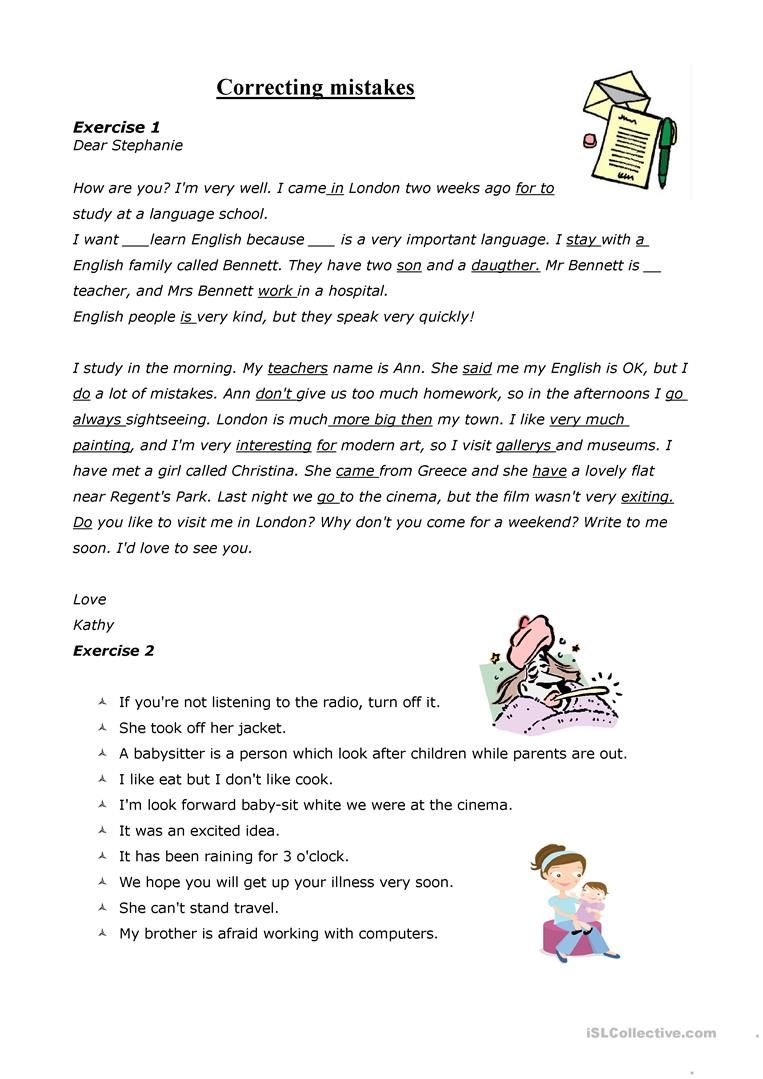 Correcting Mistakes Grammar Mistakes Learn English Correction [ 1079 x 763 Pixel ]