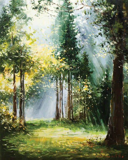 Gleb goloubetski google search landscape paysage for Painting a forest in acrylics