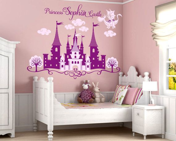 Princess Castle Personalized Name Decal, Nursery Decal, Girlu0027s Room Decal, Castle  Wall Sticker Part 41