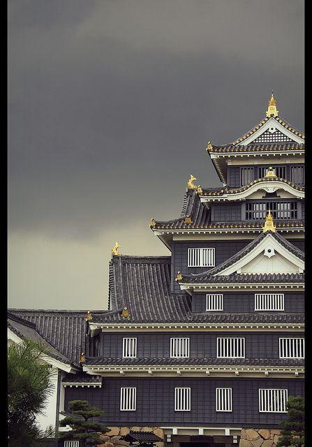 Storm Above Okayama Castle Okayama Japan Japanese Castle Japan Travel Japan
