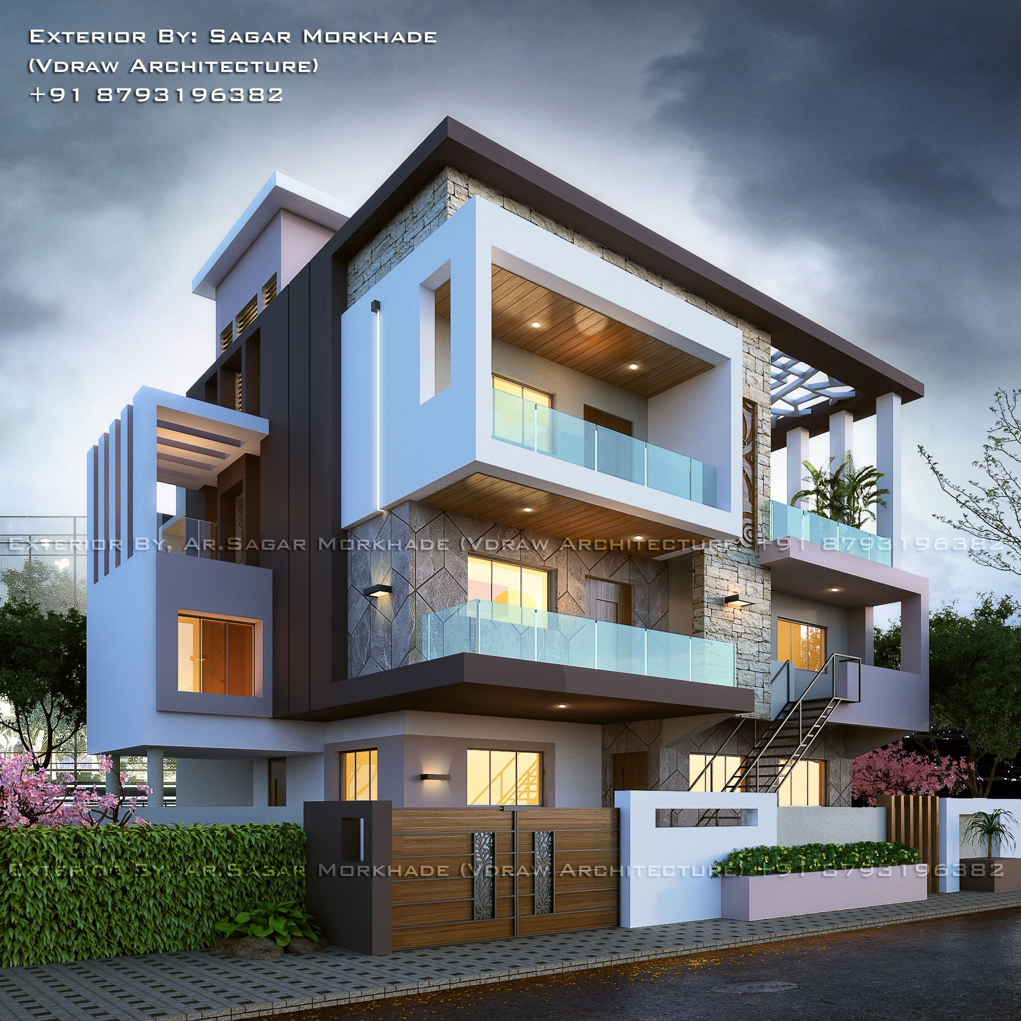 Exterior Home Decor: #Modern #Residential #House #bungalow #Exterior By, Ar