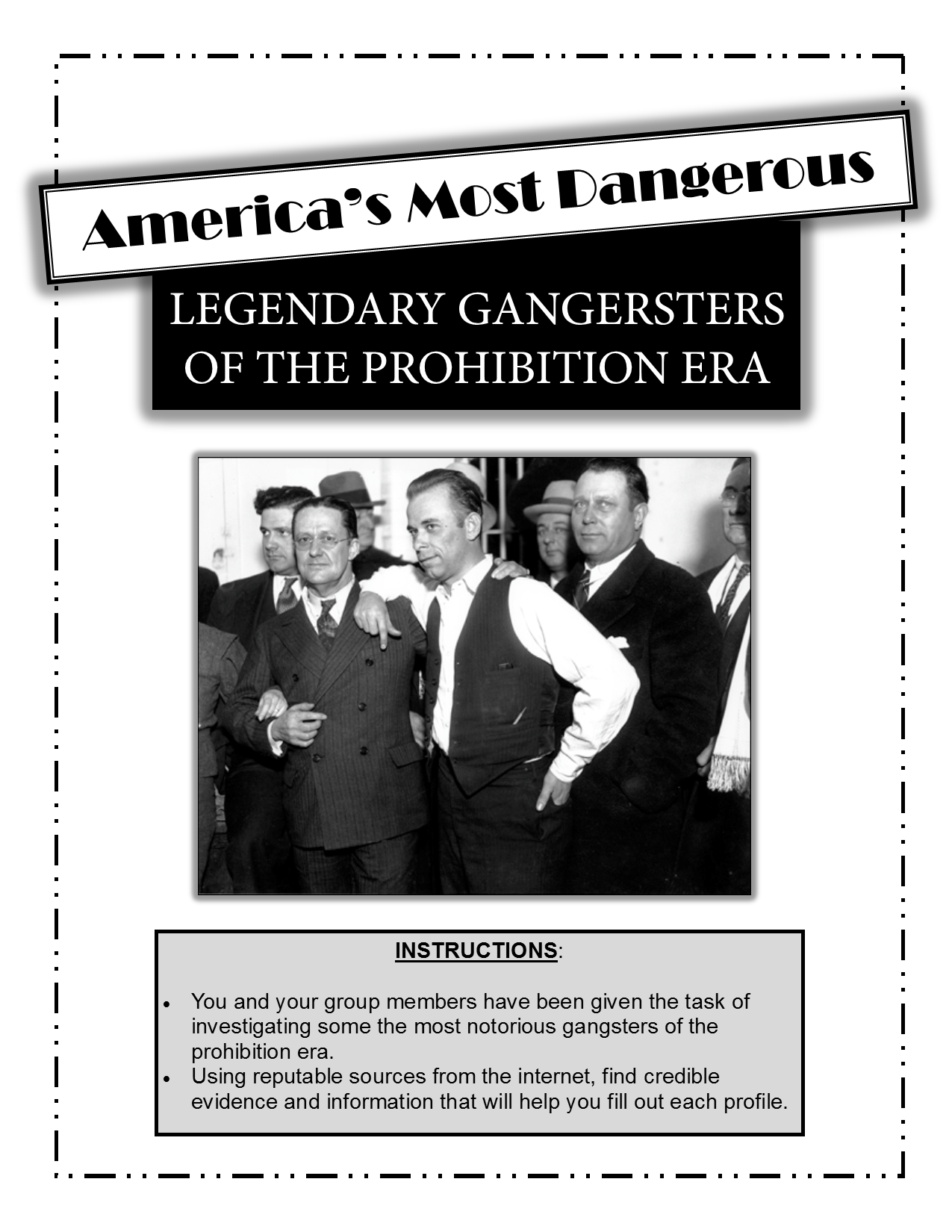 Prohibition And American Gangsters Legendary Gangsters Of The Prohibition Era