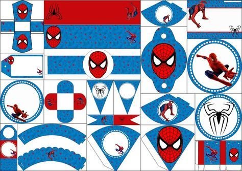 Amazing image throughout free printable cupcake wrappers and toppers with spiderman