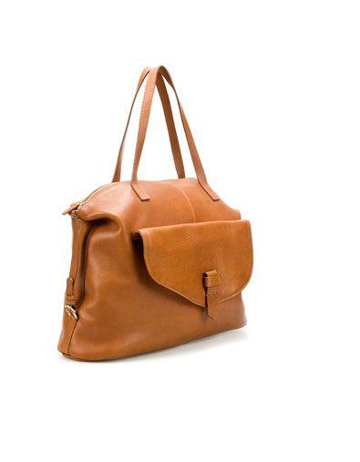 d82953aa CITY BAG WITH ZIP - Handbags - Woman - ZARA Singapore | Style | Zara ...