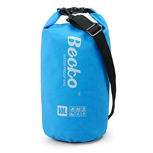 705e0c4142df Becko 10L Blue Dry Bag Waterproof Case Pouch Include Shoulder Strap for  Swimming Surfing Fishing Boating Skiing Camping and Other Outdoor Sports  Protest ...