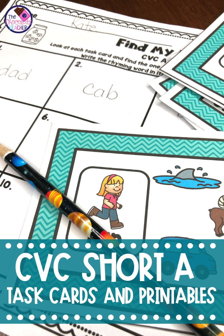 CVC Short A Rhyming and Word Families