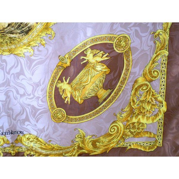 seta, scarf, sciarpa, Foulard Carré en Soie, seidentuch, gianni versace 8ab01991cd2