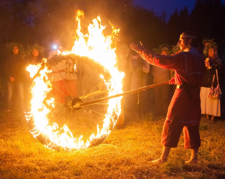 картинки огненный колес осень парке