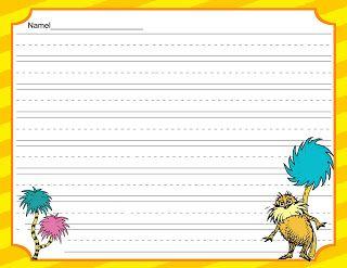 Scrap N Teach More Dr Seus Writing Paper Primary Grade Essay