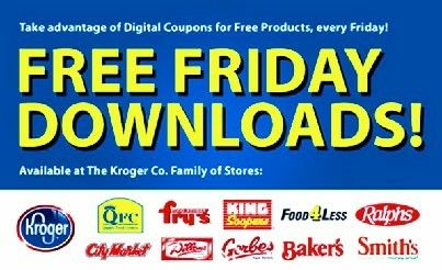 Free Product Coupons Every Friday on the Kroger app (and