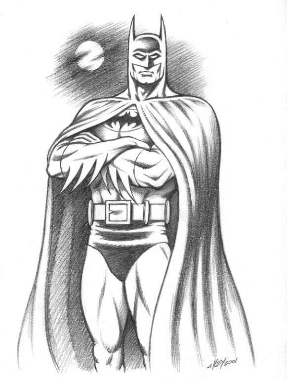 Batman drawings in pencil batmansketch drawings for for Super cool easy drawings