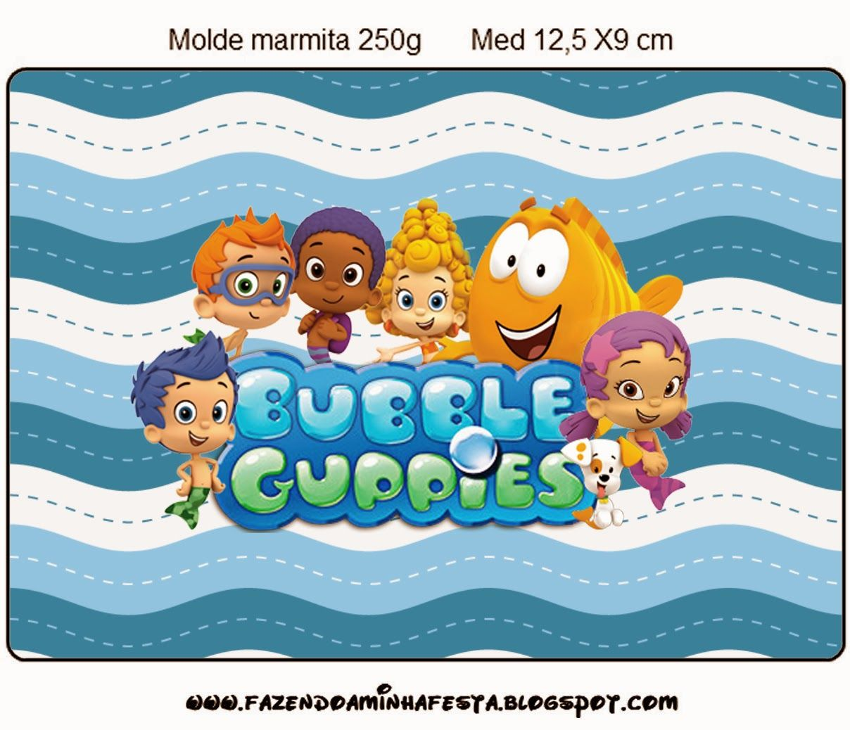 Bubble Guppies: free party printables. Right click and save as (site ...