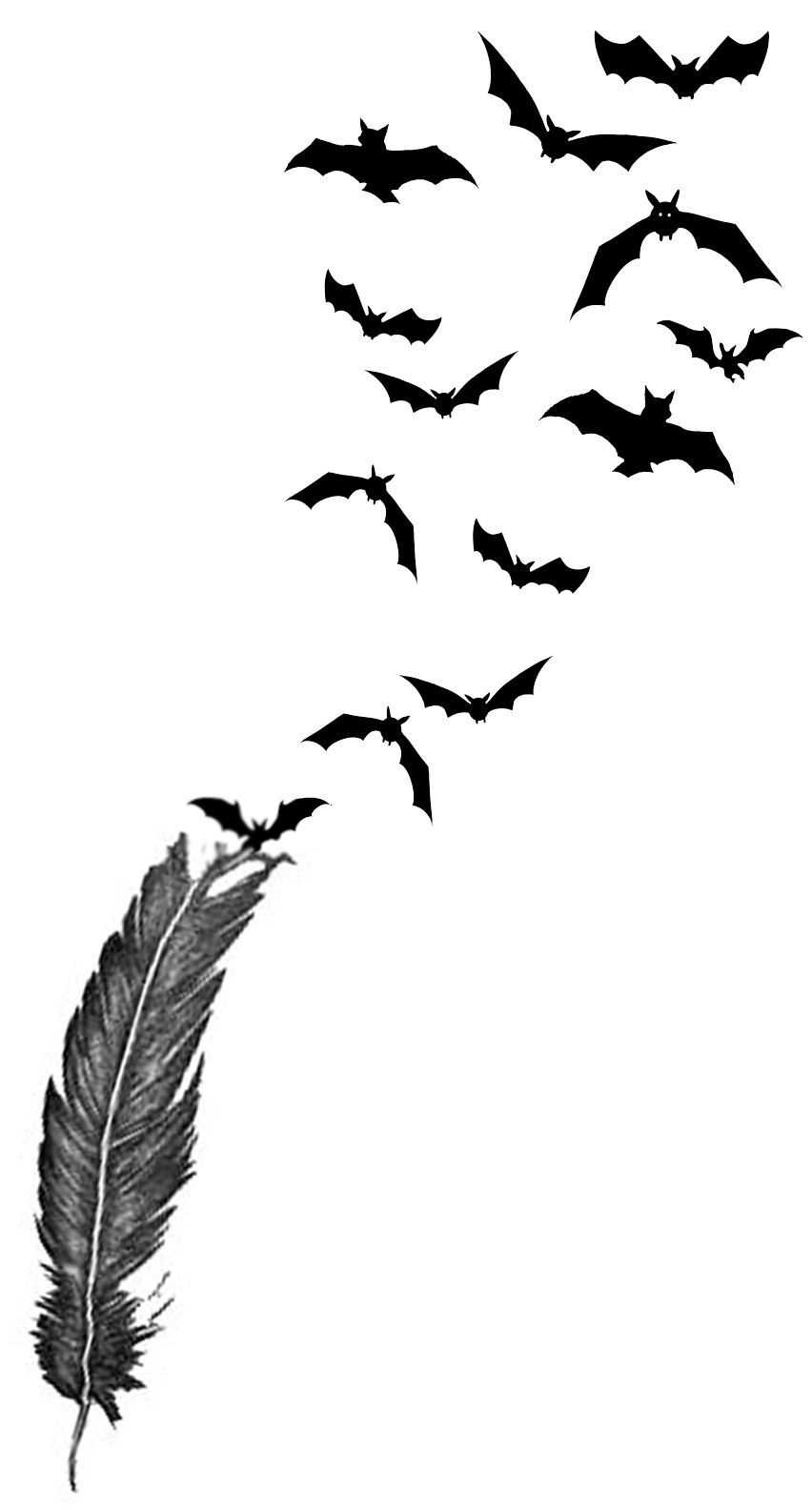 Images For > Flying Bats Tattoo side-right | Tattoos | Pinterest ...