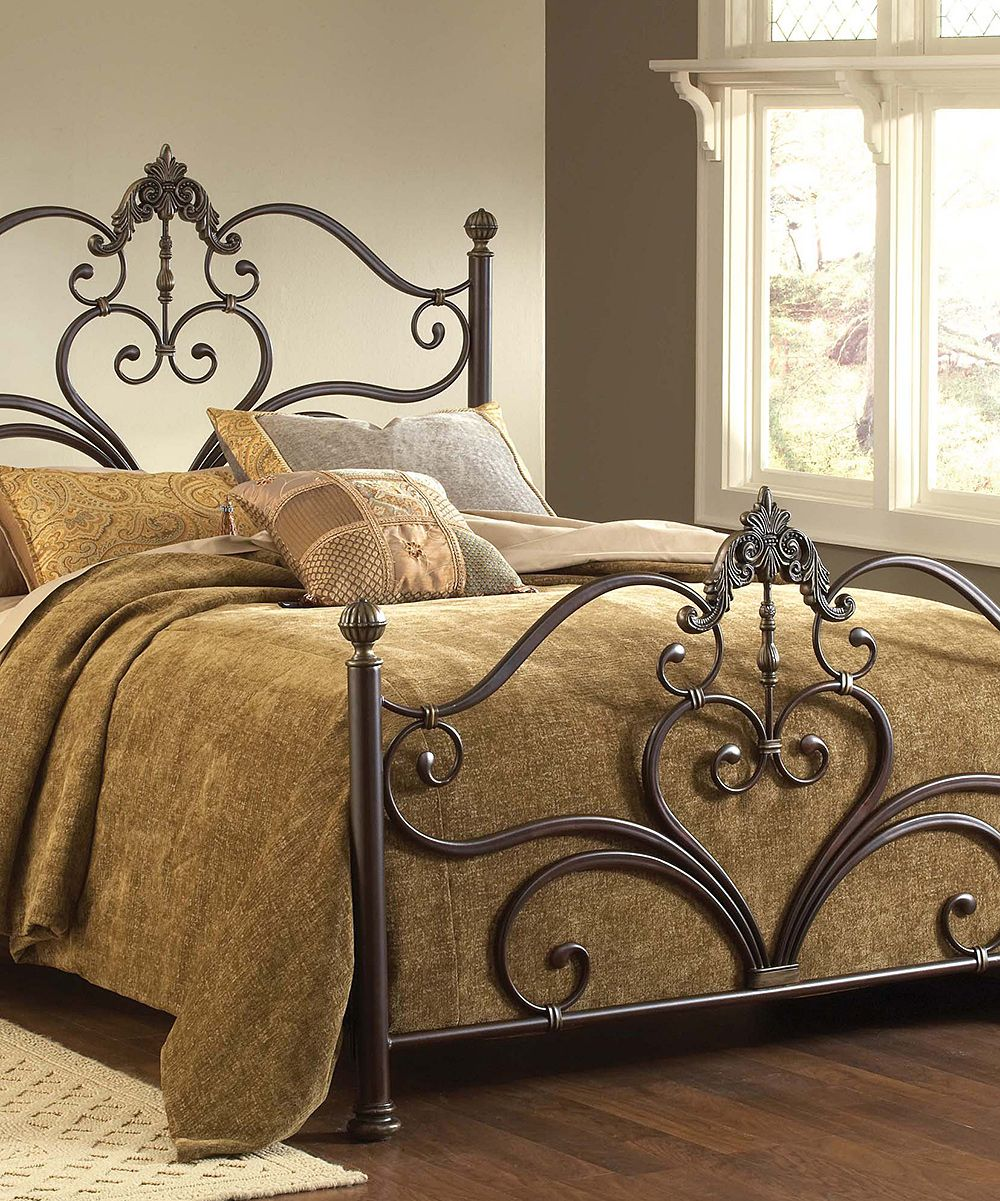 Newton Bed Set Brown bed sets, Brown bed, Wrought iron beds