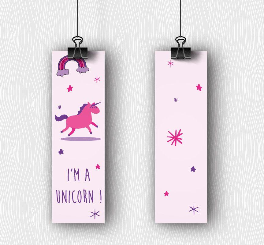 Marque Page Licorne I M A Unicorn Marque Page