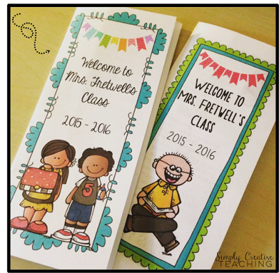 editable back to school brochures pamphlets great for open house or meet the teacher night